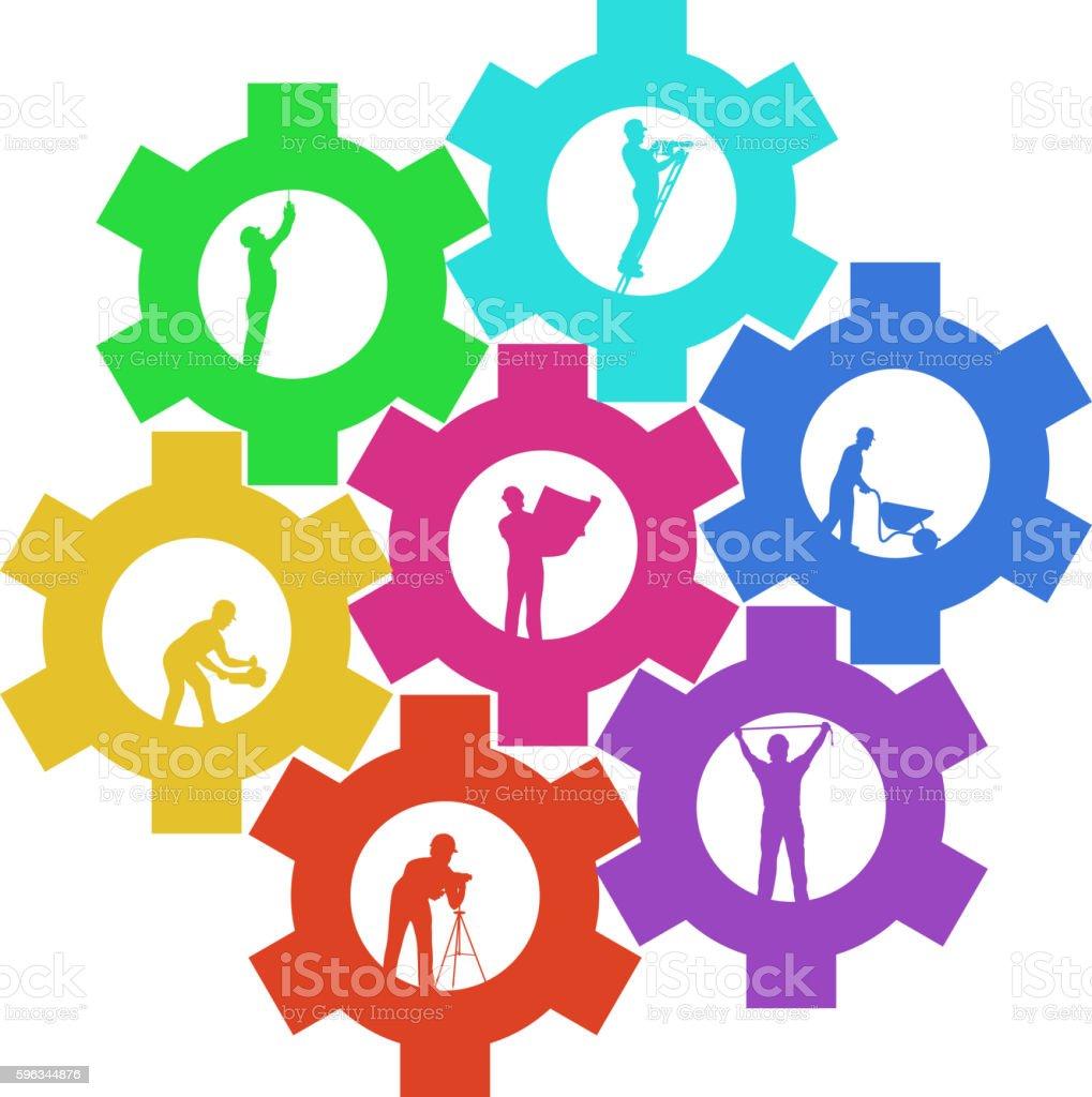 cogwheel builders set 02 royalty-free cogwheel builders set 02 stock vector art & more images of activity