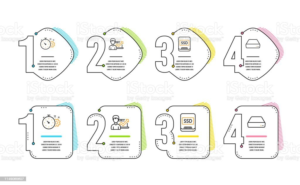Cogwheel Timer Ssd And Success Business Icons Set Mini Pc