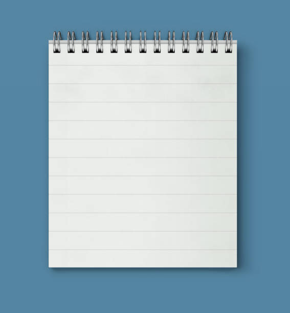 coil bound notebook - lined paper stock illustrations