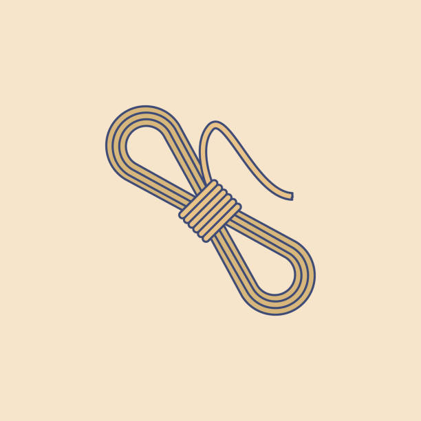 coil of rope field outline icon. Element of outdoor recreation icon for mobile concept and web apps. Field outline coil of rope icon can be used for web and mobile coil of rope field outline icon. Element of outdoor recreation icon for mobile concept and web apps. Field outline coil of rope icon can be used for web and mobile on colored background bundle stock illustrations