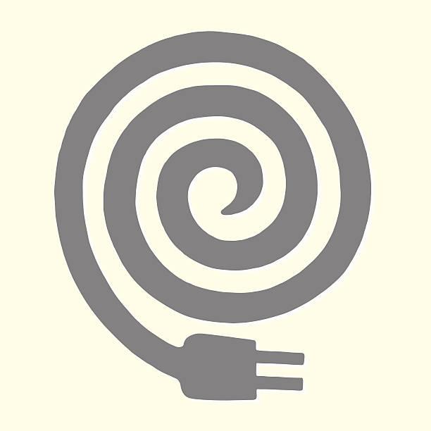 illustrations, cliparts, dessins animés et icônes de enroulé cordon électrique - rallonge électrique
