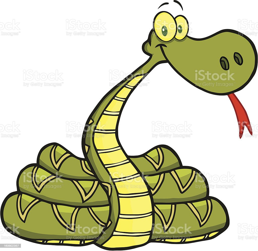 Coiled Snake royalty-free stock vector art