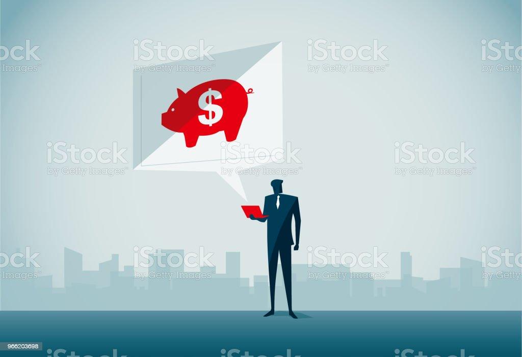 coin bank vector art illustration
