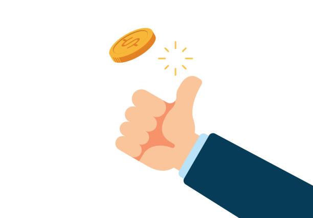 Coin Flip vector art illustration