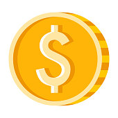 istock Coin Icon on Transparent Background 1283073161