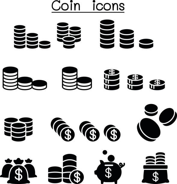 Coin & Money icon set vector illustration Coin & Money icon set vector illustration bonus march stock illustrations
