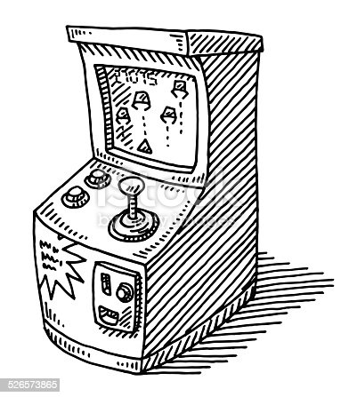 istock Coin Operated Arcade Video Game Drawing 526573865