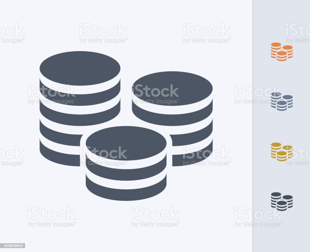 Coin Stack - Carbon Icons vector art illustration