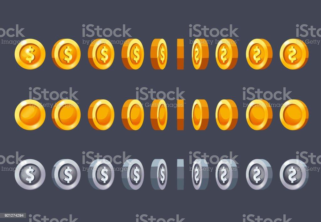 Coin vector art illustration