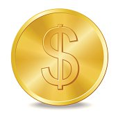 Coin with dollar sign