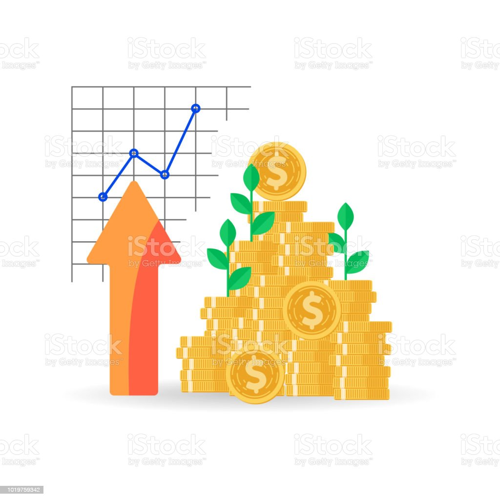 Coins Stack With Mutual Fund Income Increase Financial Strategy