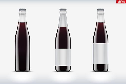 Cola bottle set mockup