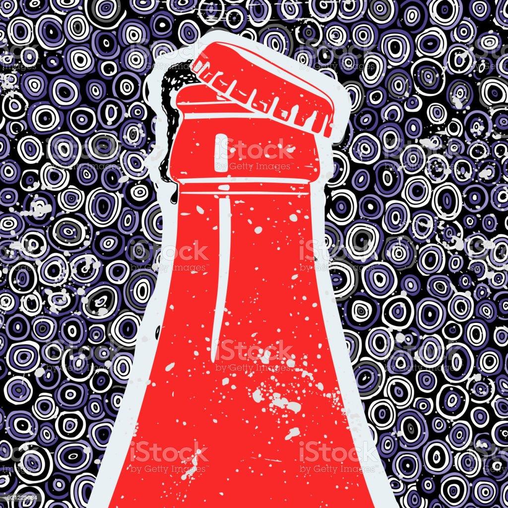 Coca-Cola bebida, ilustração vetorial - ilustração de arte em vetor