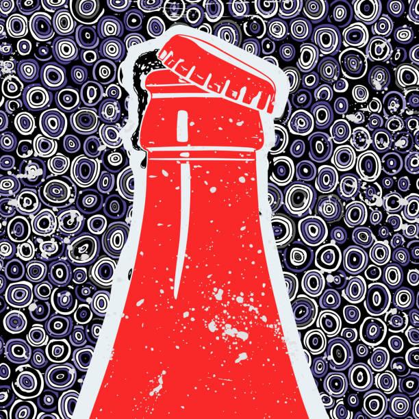 ilustrações, clipart, desenhos animados e ícones de coca-cola bebida, ilustração vetorial - refrigerante