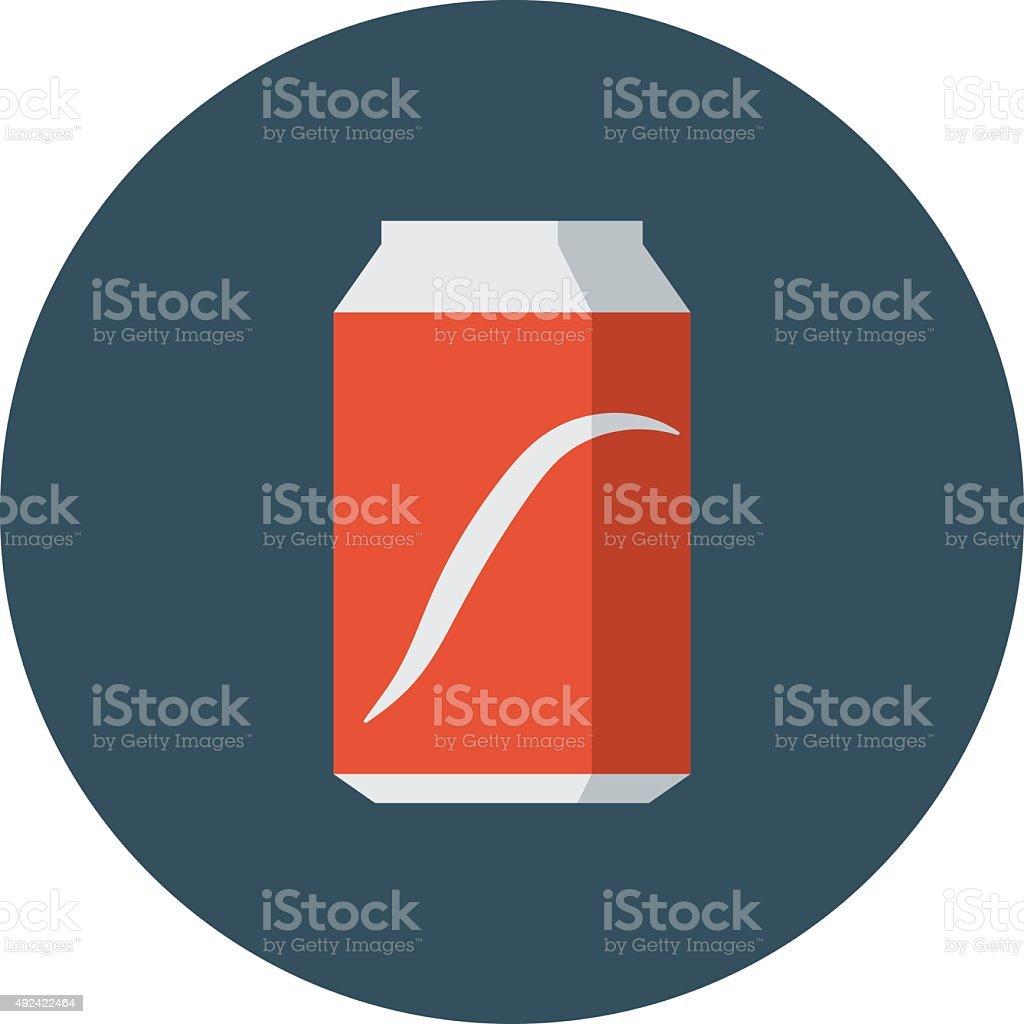 Cola Tin Colored Vector Iconvectorkunst illustratie