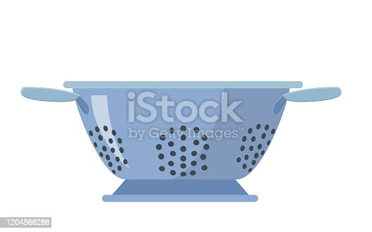 Colander icon isolated on a white background. can be used on websites, UI, UX, web and mobile phone apps. Vector illustration in flat style.