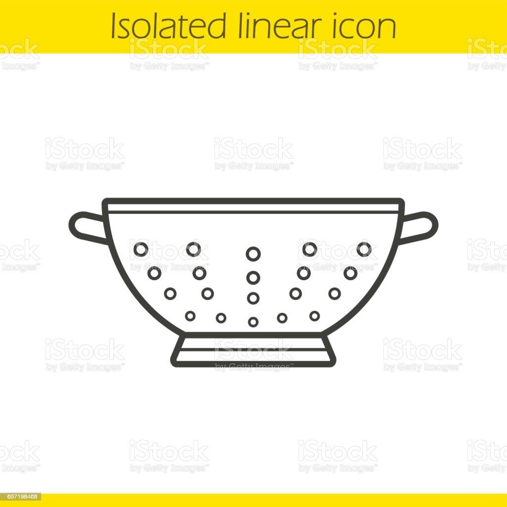 Colander icon vector art illustration