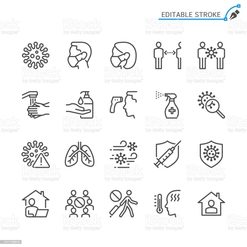Cold and flu prevention line icons. Editable stroke. Pixel perfect. Cold and flu prevention line icons. Editable stroke. Pixel perfect. Adult stock vector