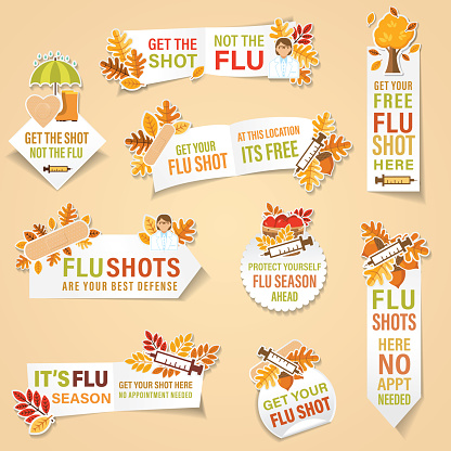 Cold And Flu Season Banners Stickers