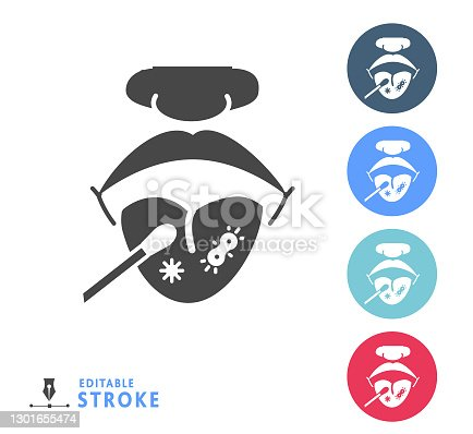 Vector illustration of a virus themed solid 100% black icon. Can be used for coronavirus or general cold and flu symbols. Icon on background with no white box below.  Simple set that includes vector eps and high resolution jpg in download.