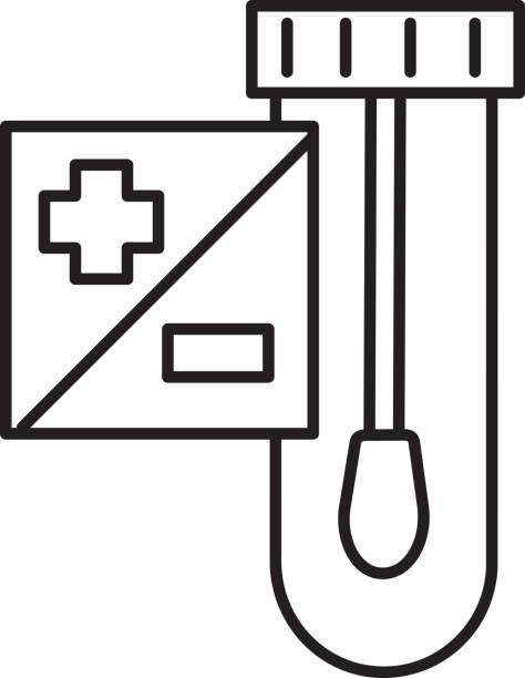 bildbanksillustrationer, clip art samt tecknat material och ikoner med testkit för testkit för kall- och influensavirus med provrör och bomullspinne - corona test