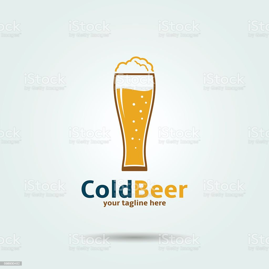 Cold Beer Icon vector art illustration