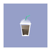 Cold Beverages Icon Flat Design