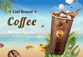 istock Cold brew coffee ads 1026982256