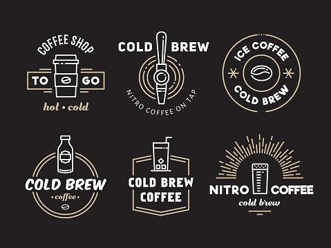 Cold brew coffee and nitro coffee logos