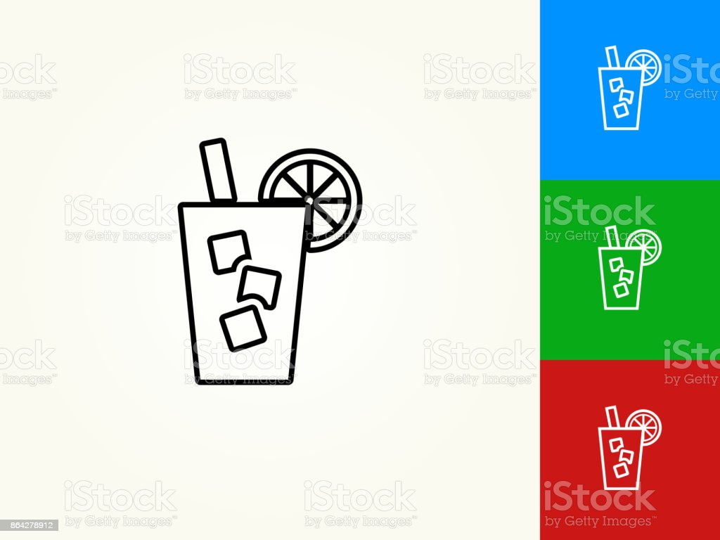 Cold Drink Black Stroke Linear Icon royalty-free cold drink black stroke linear icon stock vector art & more images of agriculture
