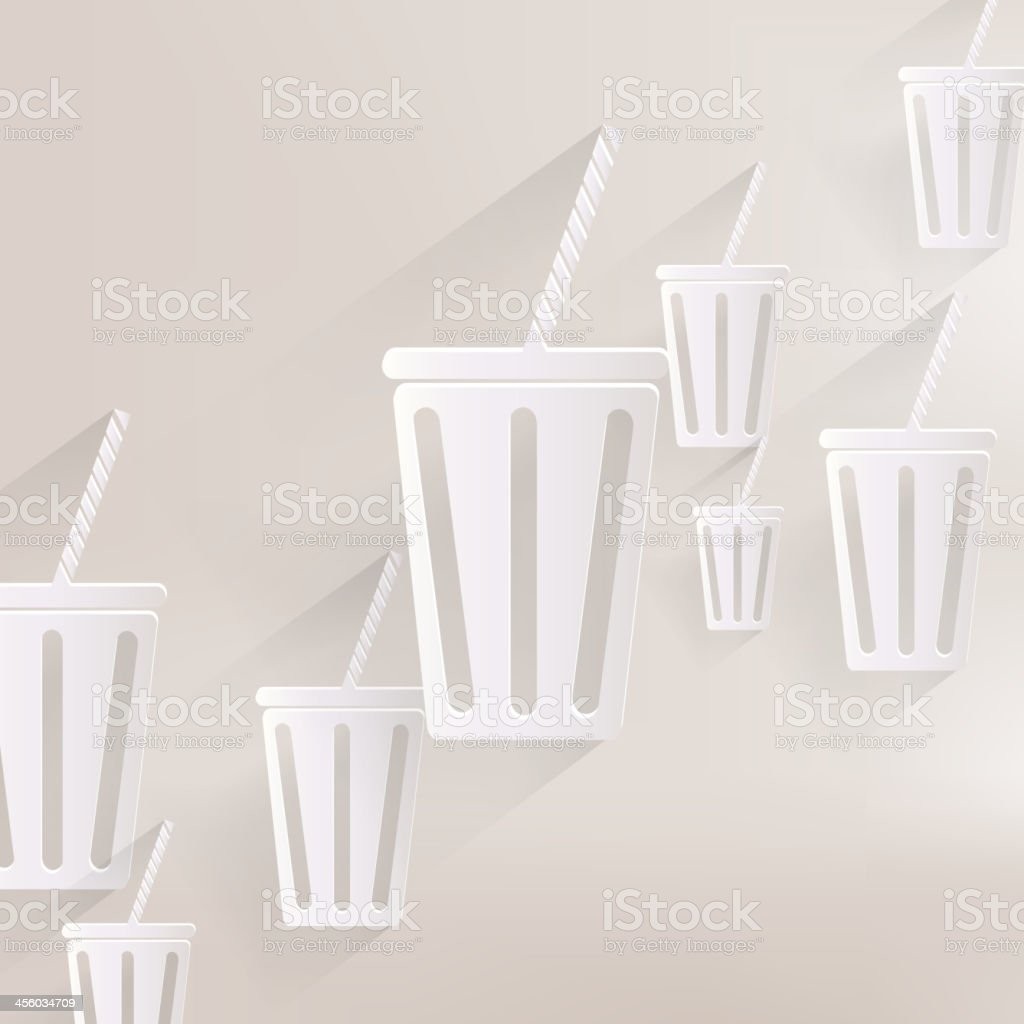 Cold drink web icon royalty-free stock vector art