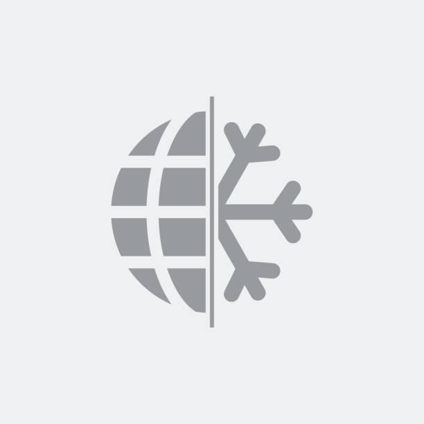 kälte in der globalen temperatur - eiszeit stock-grafiken, -clipart, -cartoons und -symbole