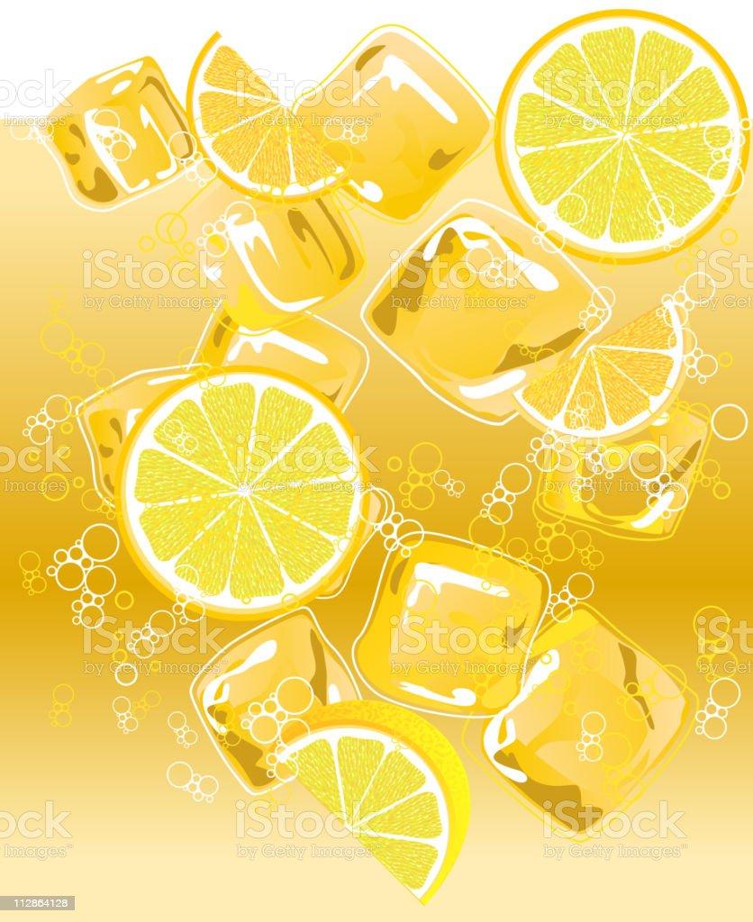 Cold Lemon Drink royalty-free stock vector art