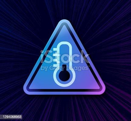 istock Cold Temperature Warning Symbol 1294068953