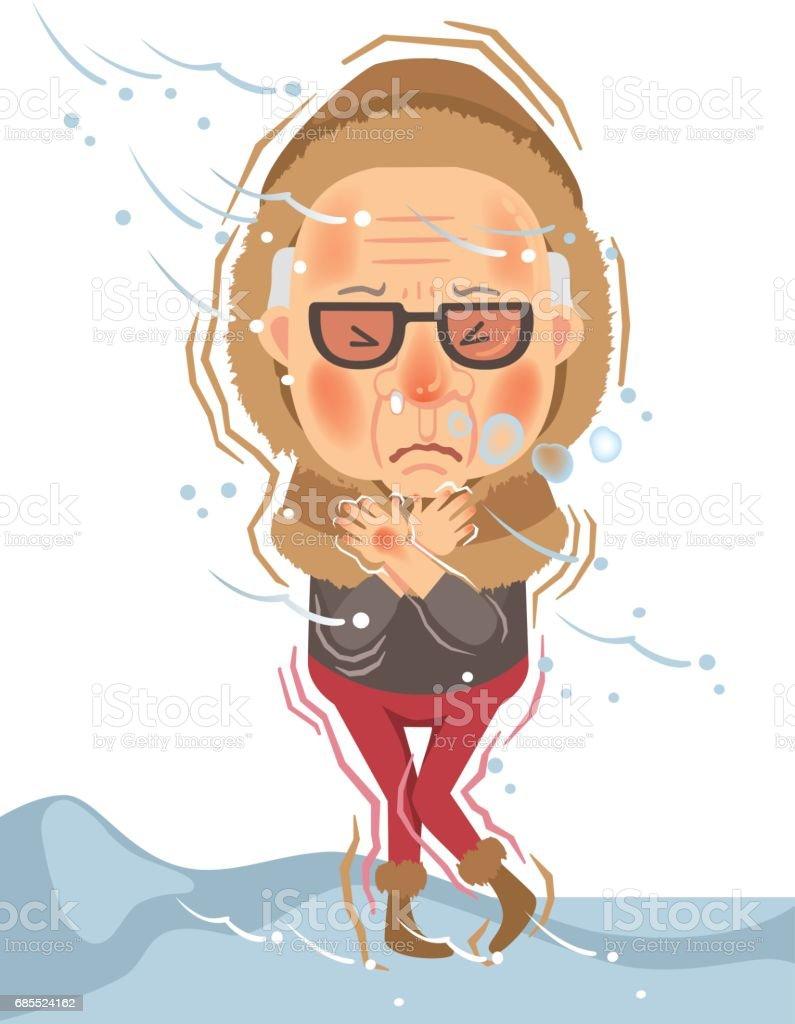 Cold vector art illustration