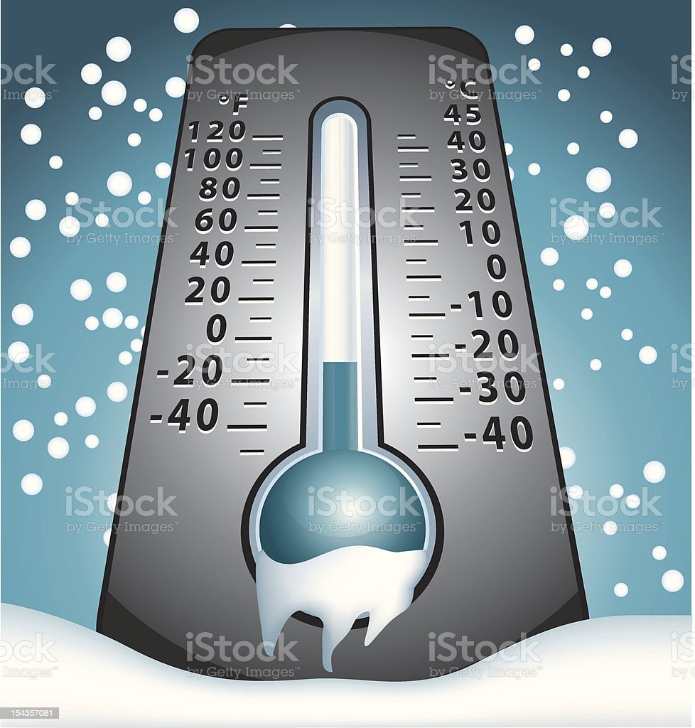 Coldness thermometer royalty-free stock vector art