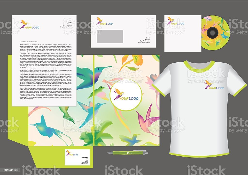 Colibri corporate identity vector art illustration