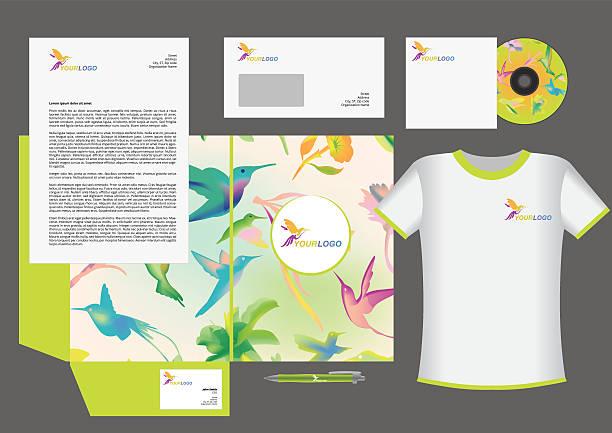 Colibri corporate identity vector art illustration