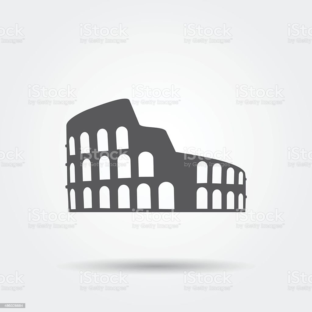 Coliseum icon. vector art illustration