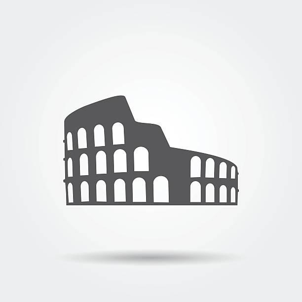 illustrations, cliparts, dessins animés et icônes de coliseum icône. - rome