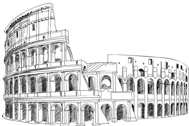 illustrations, cliparts, dessins animés et icônes de colisée à rome, en italie. - rome