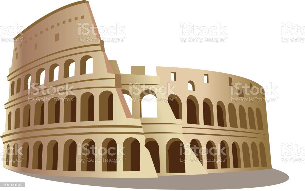 Coliseum vector art illustration