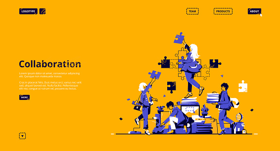 Collaboration and teamwork landing page