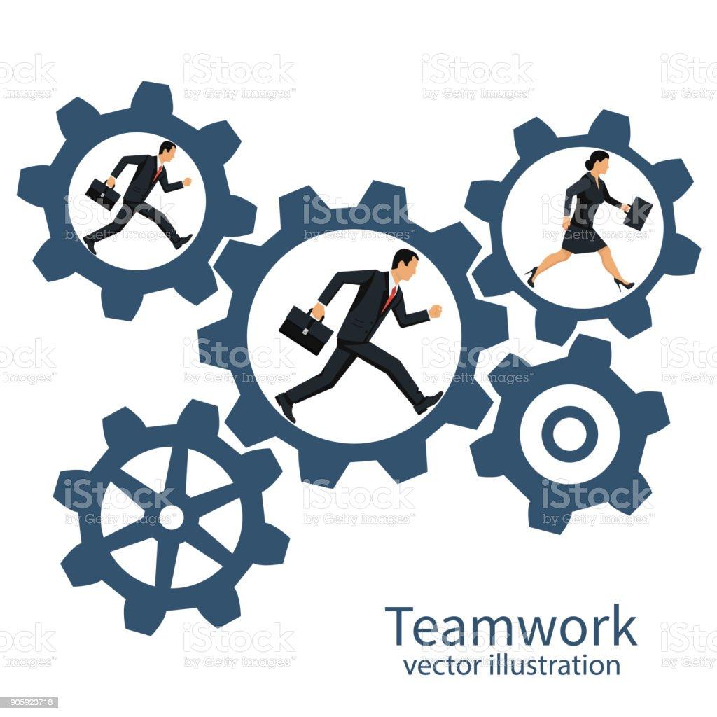 Samenwerking concept vectorvectorkunst illustratie