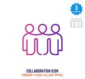 istock Collaboration Continuous Line Editable Icon 1249615520