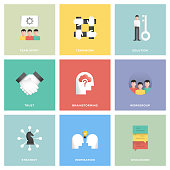 Collaboration Icon Set Flat Design