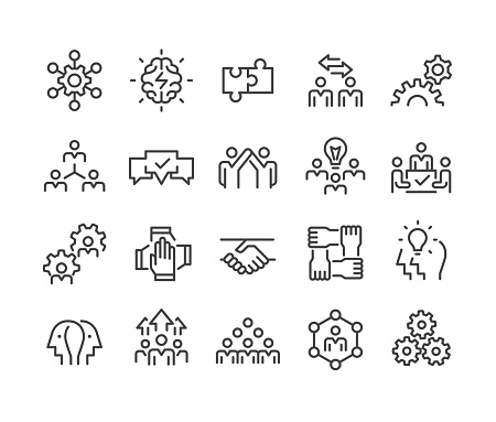 Collaboration Icons - Classic Line Series