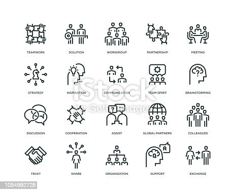 Collaboration icons - Line Series