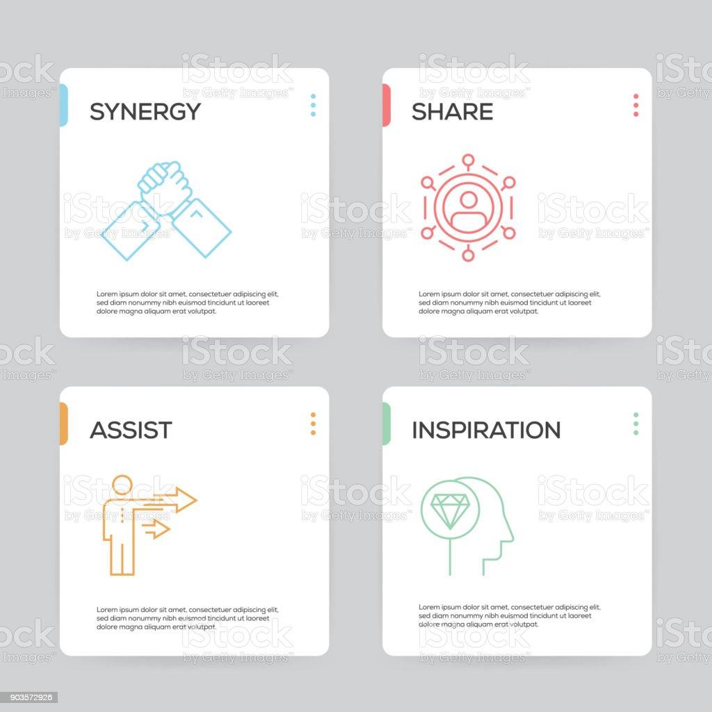 Zusammenarbeitinfografik Designvorlage Stock Vektor Art und mehr ...