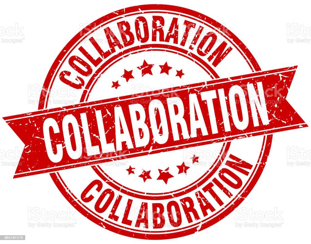collaboration round grunge ribbon stamp royalty-free collaboration round grunge ribbon stamp stock vector art & more images of award ribbon